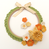 COTTON POD CROCHET KIT - Spring Wreath