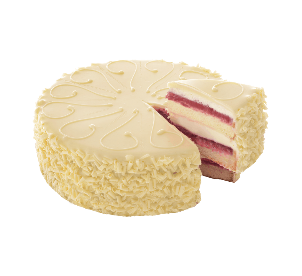 White Chocolate Raspberry Truffle Cake