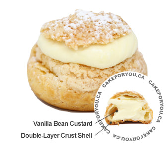 Vanilla Bean Cream Puff
