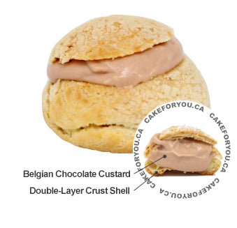 Belgian Chocolate Cream Puff