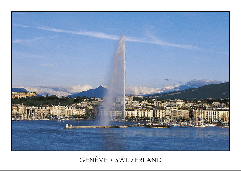 10259 - Geneva - The harbour and the Mont-Blanc, Switzerland