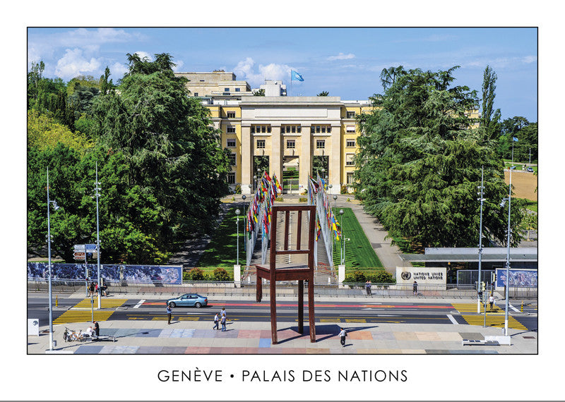 10282 - Geneva - Palais des Nations and Broken Chair, Switzerland