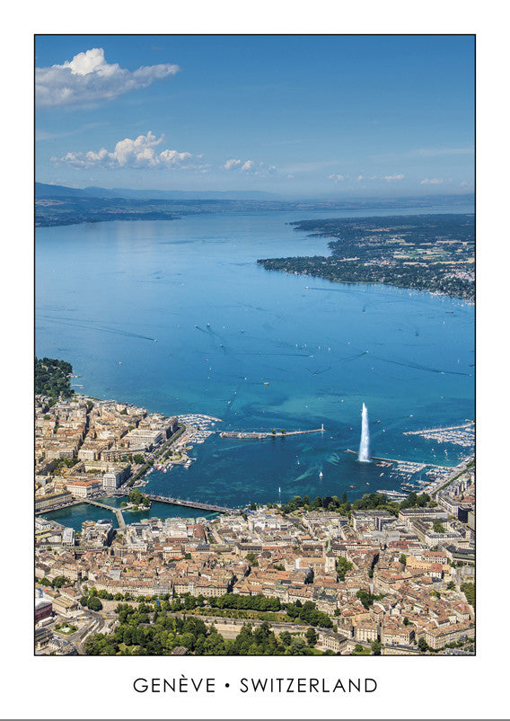 10286 - Geneva - Town and Lake Geneva, Switzerland