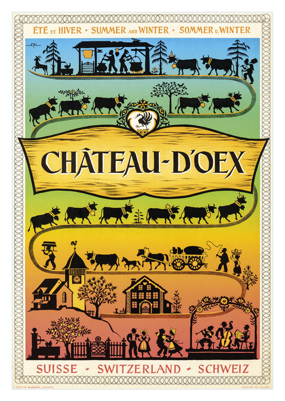 CHÂTEAU-D'OEX - Poster by Walter Spinner - 1955