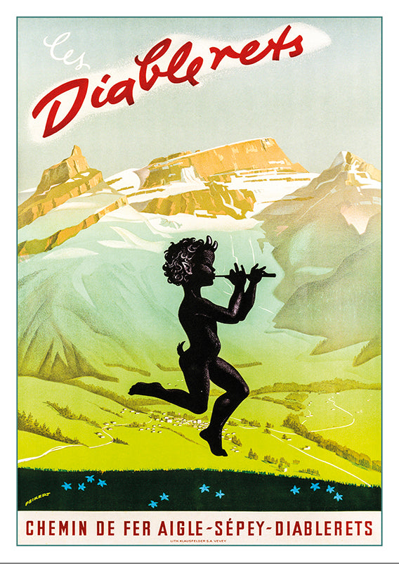 A-10566 - LES DIABLERETS - Poster by Martin Peikert - 1947