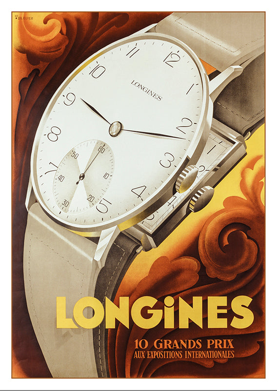 A-10573 - LONGINES - Poster by René Bleuer - 1942