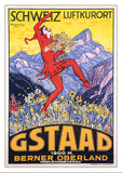 Postcard - GSTAAD - Poster by François Gos - 1924