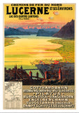Postcard - LUCERNE ET SES ENVIRONS - Poster from 1912