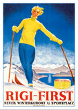 Postcard - RIGI-FIRST - Poster by Otto Landolt - 1929