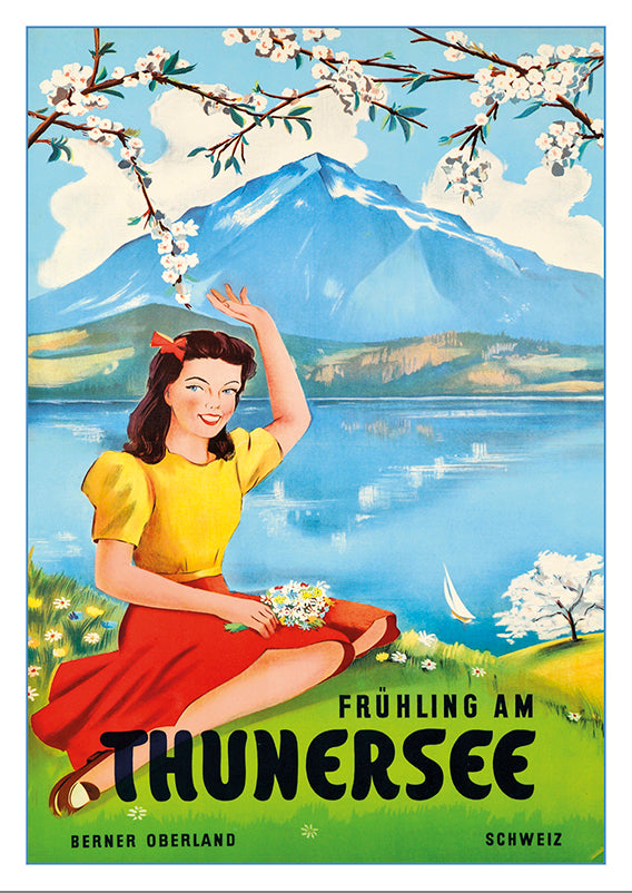 Postcard - THUNERSEE - Poster by Plinio Gächter - 1953