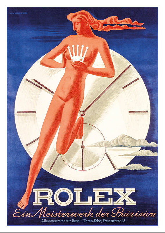 A-10623 - ROLEX - Poster by Hermann Behrmann and Willy Bosshard about 1942