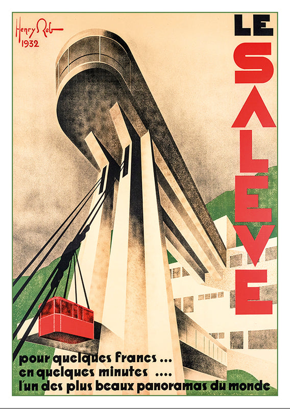 A-10632 - LE SALÈVE - Poster by Henry Reb - 1932