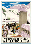 Postcard WINTER IN DER SCHWEIZ - Poster by Emil Cardinaux – 1921