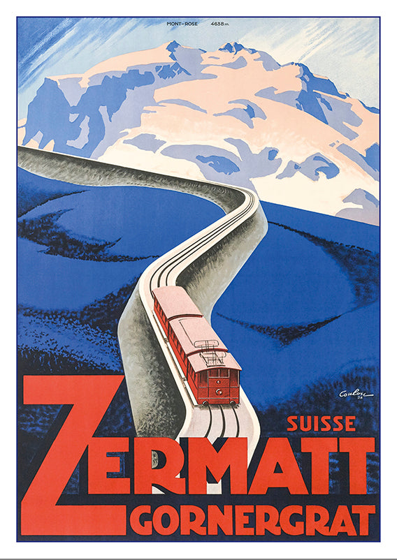 Postcard ZERMATT - GORNERGRAT - Poster by Eric de Coulon - 1928