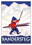 KANDERSTEG - Poster by Willi Trapp - 1933