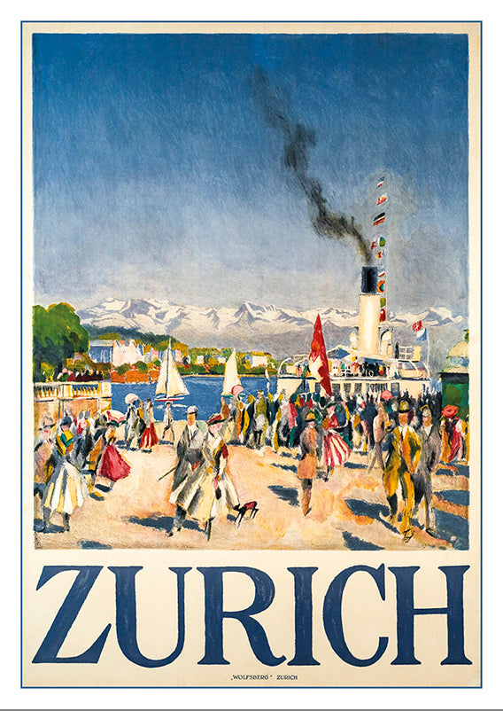 A-10655 - ZÜRICH - Poster by Otto Baumberger about 1916