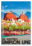 THE ELECTRIC SIMPLON LINE - Poster by Otto Baumberger - 1934