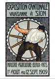 SION - Exposition cantonale du Valais - Poster by Ludwig Werlen - 1909