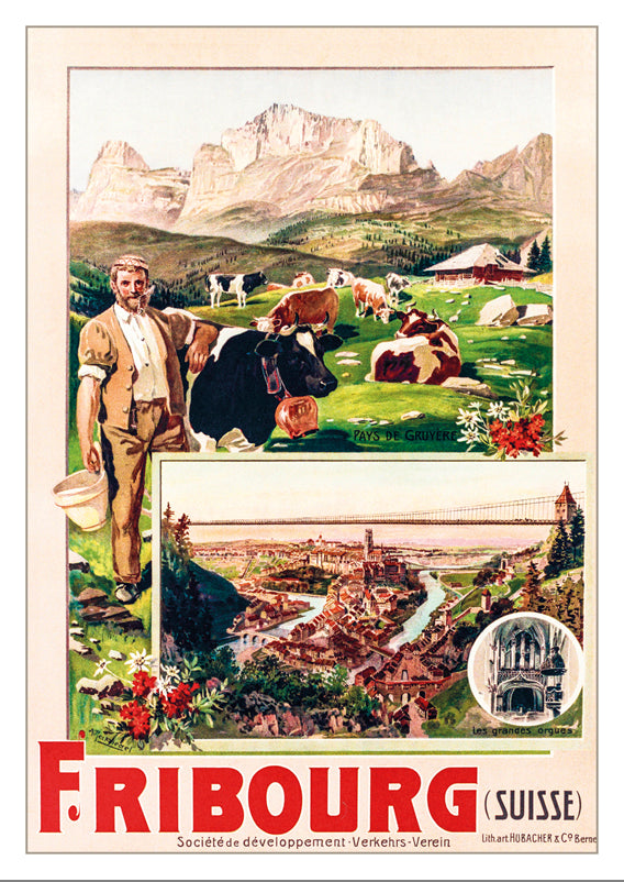 A-10673 - FRIBOURG - Poster by Anton Reckziegel - 1901