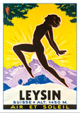 LEYSIN - Poster by Jacomo Muller about 1930