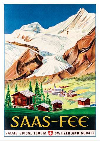 SAAS-FEE - Poster about 1947