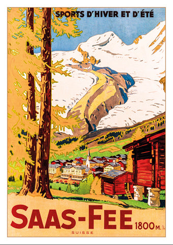 SAAS-FEE - Poster by Wihelm Friedrich Burger - 1925