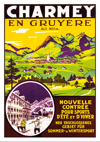 CHARMEY EN GRUYÈRE - Poster about 1930