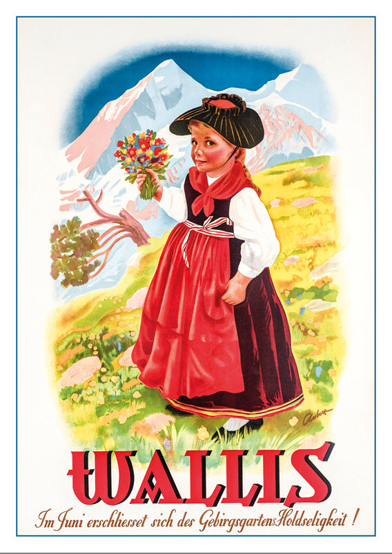 A-10689 - WALLIS - Poster by Charles Aubert - 1940