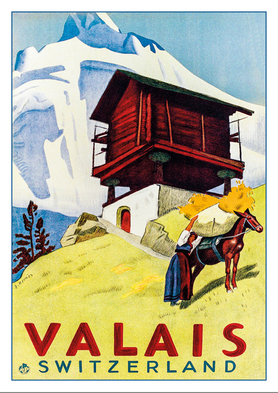 A-10693 - VALAIS - SWITZERLAND - Poster by Eric Hermès - 1938