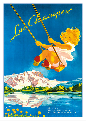 LAC CHAMPEX - Poster by Martin Peikert - 1947