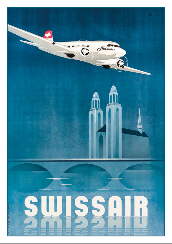 SWISSAIR - Poster by Teddy Brunner - 1938