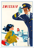 SWISSAIR - Poster by Donald Brun - 1949