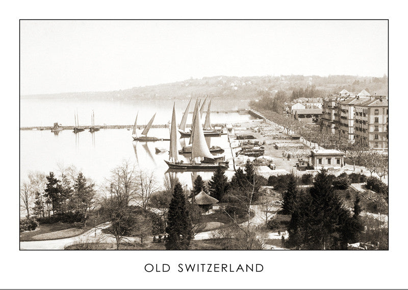 "13042 - GENEVA - THE COMMERCIAL PORT ""EAUX-VIVES"", ABOUT 1890, Switzerland"