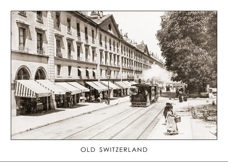GENEVA, CORRATERIE STREET, ABOUT 1889, SWITZERLAND