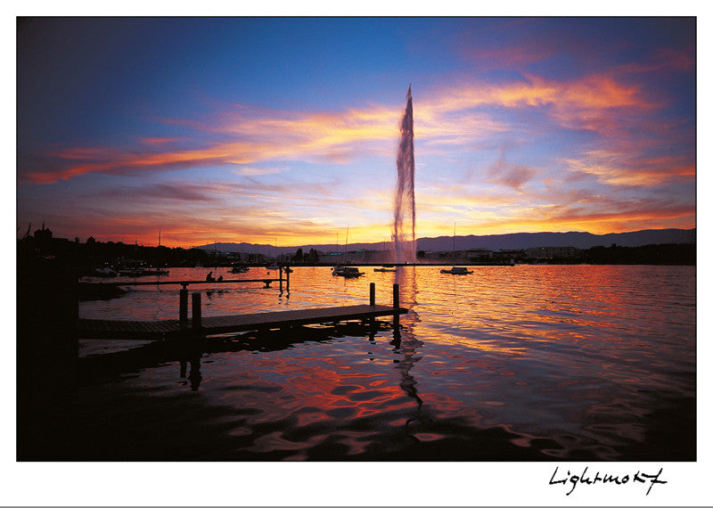 16223 - Geneva - The harbour and the Jet-d