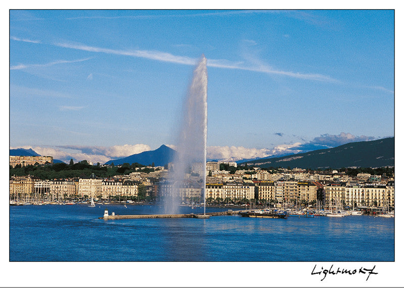 16259 - Geneva - The harbour and the Mont-Blanc, Switzerland