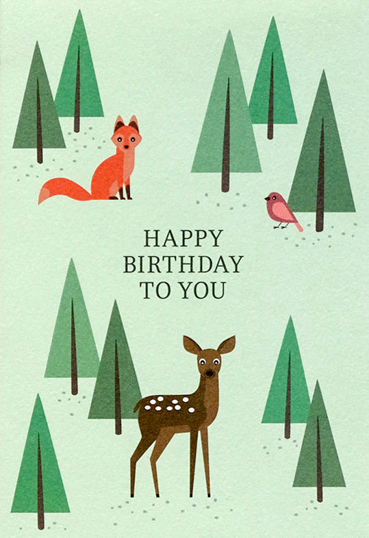 11-1.165 - Happy Birthday Bambi & Fox