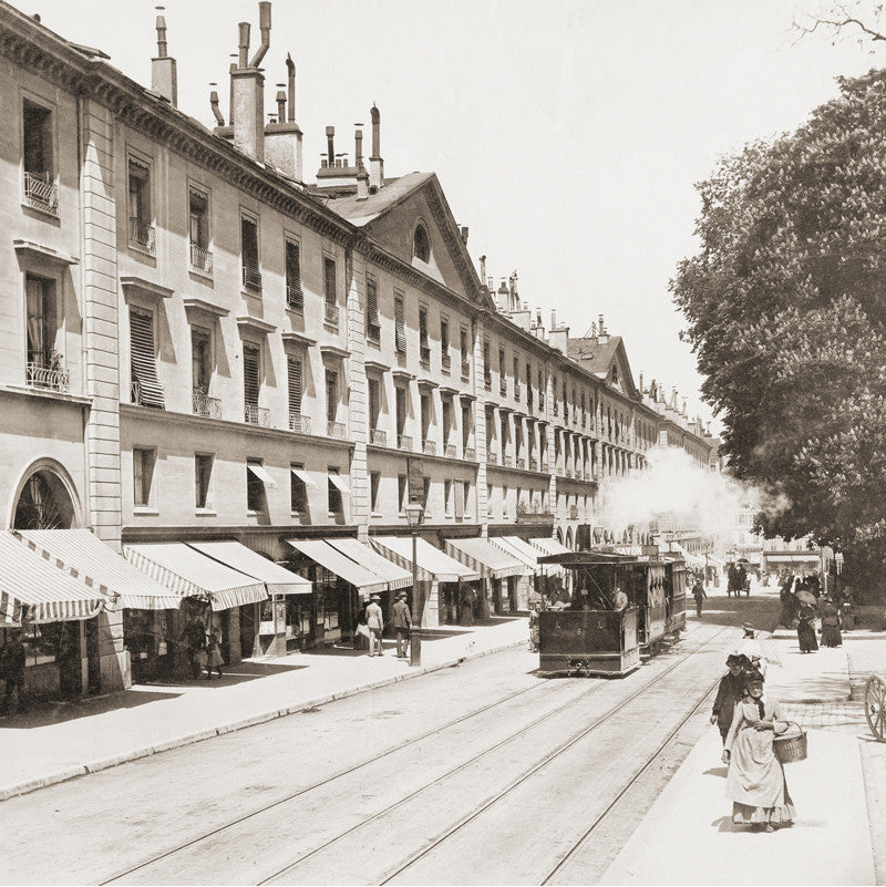 73043 - Geneva - Corraterie street, about 1889, Switzerland