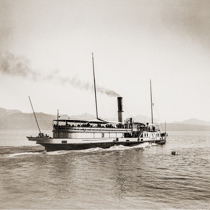 "73044 - Lake Geneva - Steamer ""LA SUISSE"", about 1893, Switzerland"
