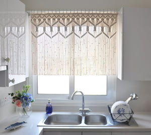 The Classic Macrame short curtain/ valance