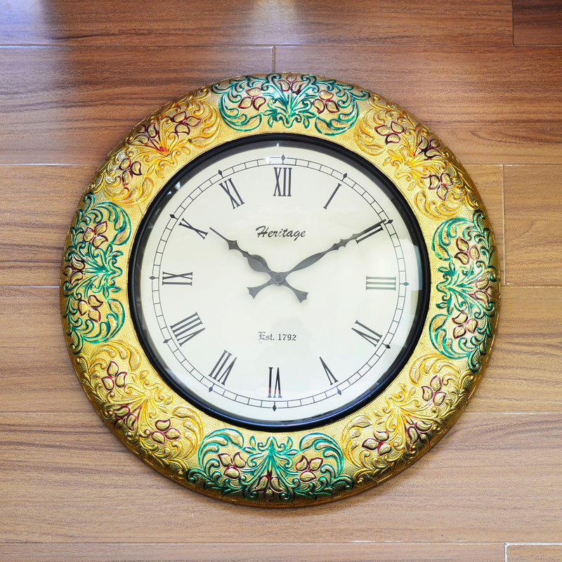 Meenakari Wall Clock