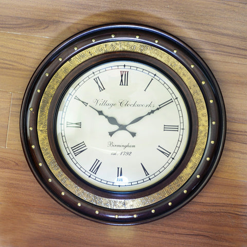 Rosewood Polish Wall Clock