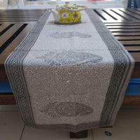 Paisley Design Hand Block Print With Vegetable Dye 100% Cotton Canvas Table Runner