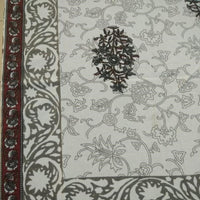 Jaal Print Brown Colour 100% Cotton 6 Seater Table Cover