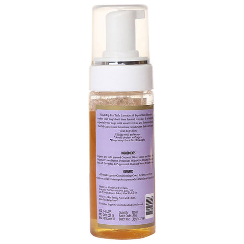 100% Hypoallergenic Organic Lavender And Peppermint Dog Shampoo