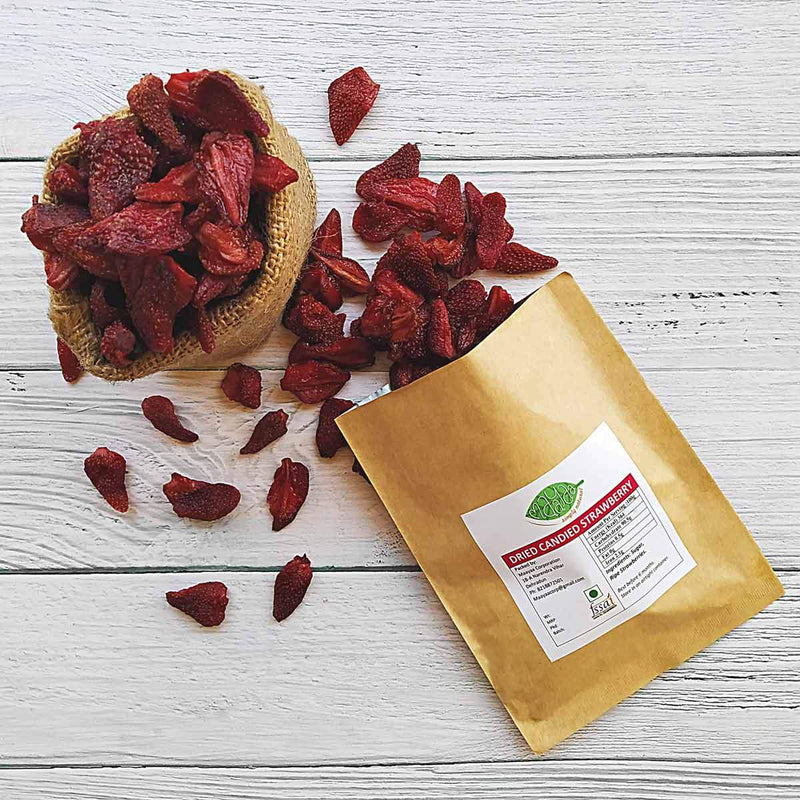 100% Natural Dried Candied Strawberry