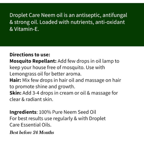 100% Pure Cold Pressed Neem Seed Oil (Pack of 2)