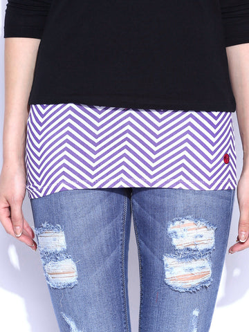 Purple & White Chevron Belly Band
