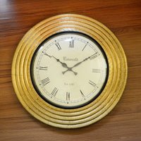 Round Brass Wall Clock