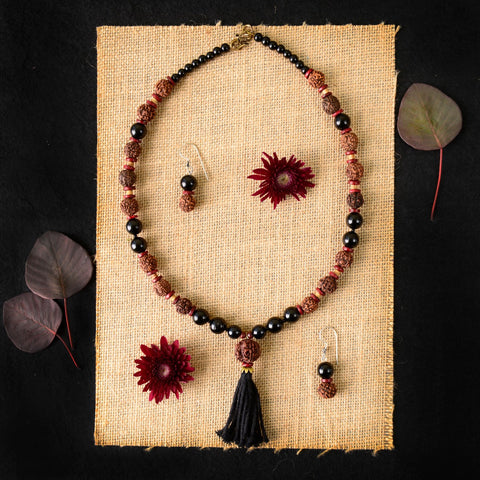 Handmade Rudraksh Necklace Set